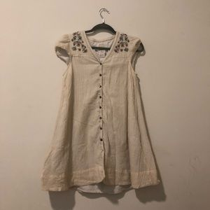 Adorable Embroidered Anthropologie Dress, Size 4